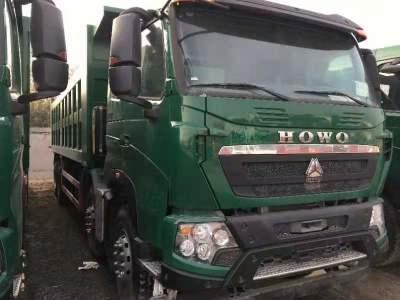 重汽豪沃T7自卸車郵政綠 440馬力8米大箱