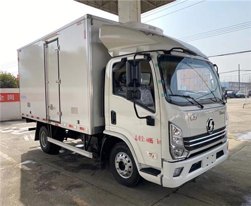 陜汽德龍國六4.2米冷藏車價格_陜汽德龍K3000藍牌冷藏車多少錢