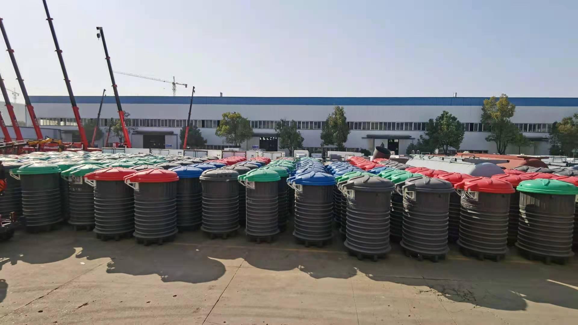 程力吊裝式壓縮垃圾車|3方深埋式垃圾桶廠家報價