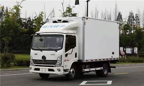 藍牌不超重陜汽輕卡徳龍K3000國六130馬力冷藏車