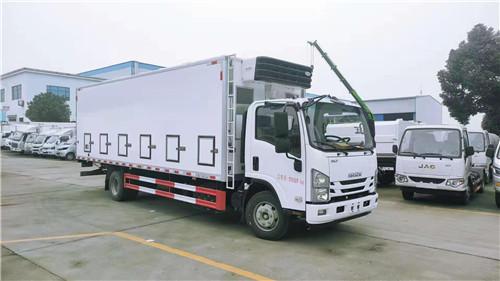 国六五十铃700P鸡鸭苗运输车 黄牌6.8米恒温鸡鸭苗运输车