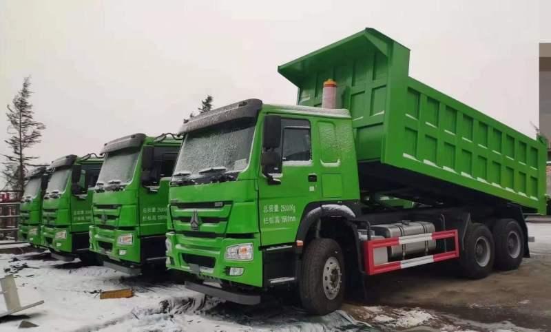 重汽豪沃6米380馬力自卸車