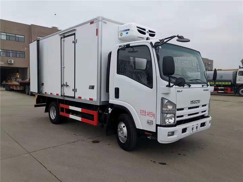国六4米2五十铃600P冷藏车价格_厂家