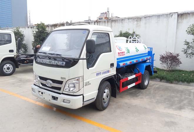 福田時代2-3立方藍牌灑水車
