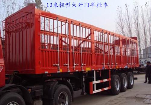 惠州专业订做高强板轻型大开门13米半挂车二手车