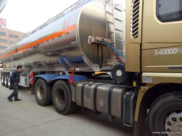 40吨铝合金半挂油罐车现货促销18872998882二手车