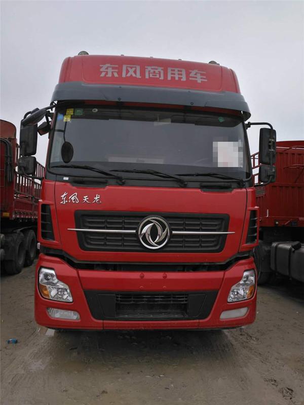 宜春东风天龙高低板半挂 国四 420马力 13米货厢二手车