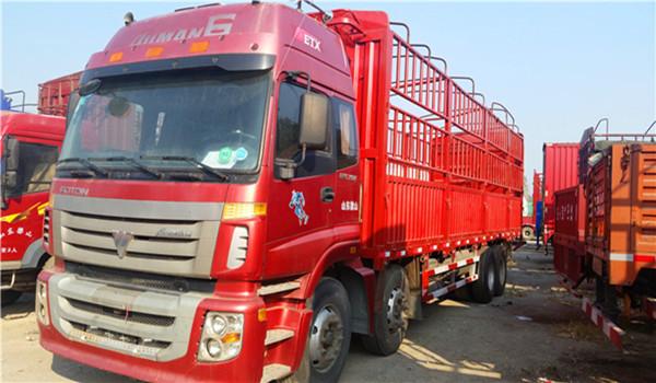 出售东风天龙9米6高栏货车二手车