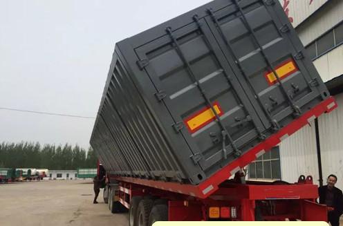 拖板车 平板后翻 花篮 标箱 梁山挂车厂 专业订做二手车