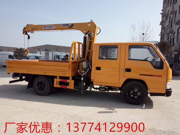 【随州】小型国五江铃双排徐工2吨随车吊批发价 价格14.68万 二手车