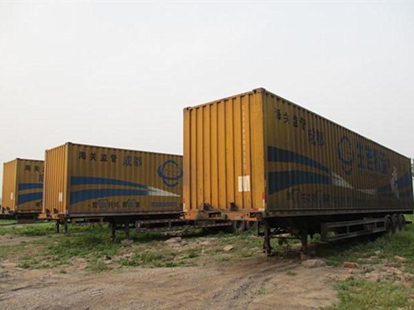 转让15米集装箱半挂车手续齐全