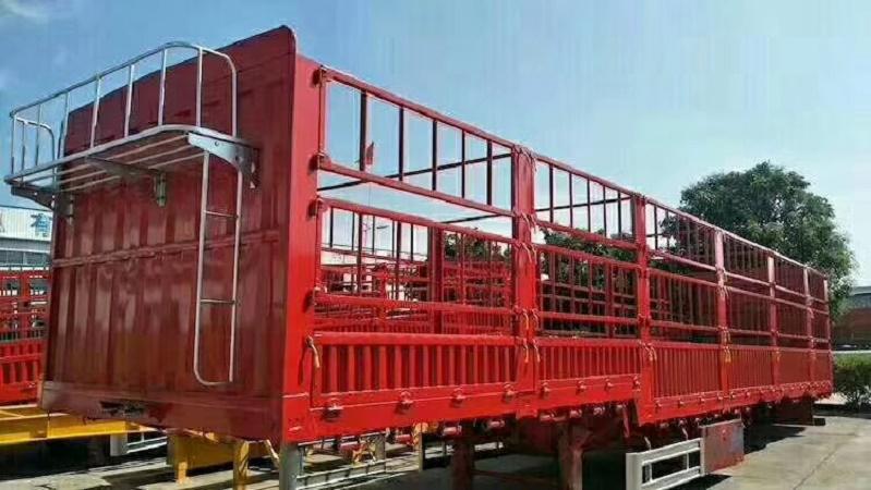 【成都】梁山二手轻型13米仓栏侧翻自卸半挂车 价格3.00万 二手车