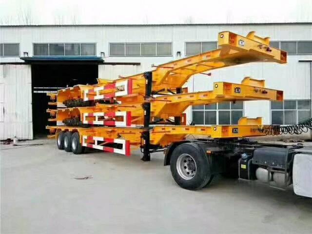 20英尺/30英尺/40英尺 集装箱式骨架半挂车二手车