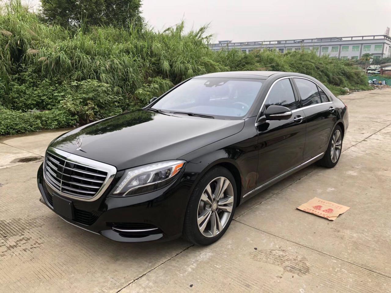 【东莞】纯正16年奔驰S550 珍珠黑色黑内  价格50.00万 二手车