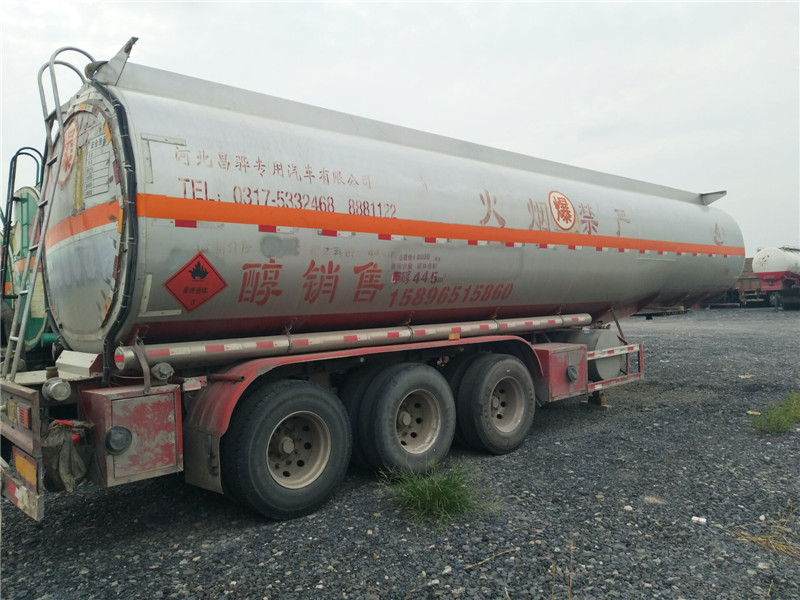 二手半挂油罐车液体罐式半挂车3桥2轴半挂油罐车二手车