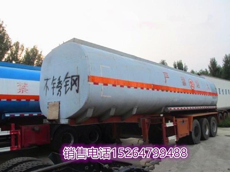 【马鞍山】出售二手不锈钢保温油罐半挂车铺货 价格5.00万 二手车