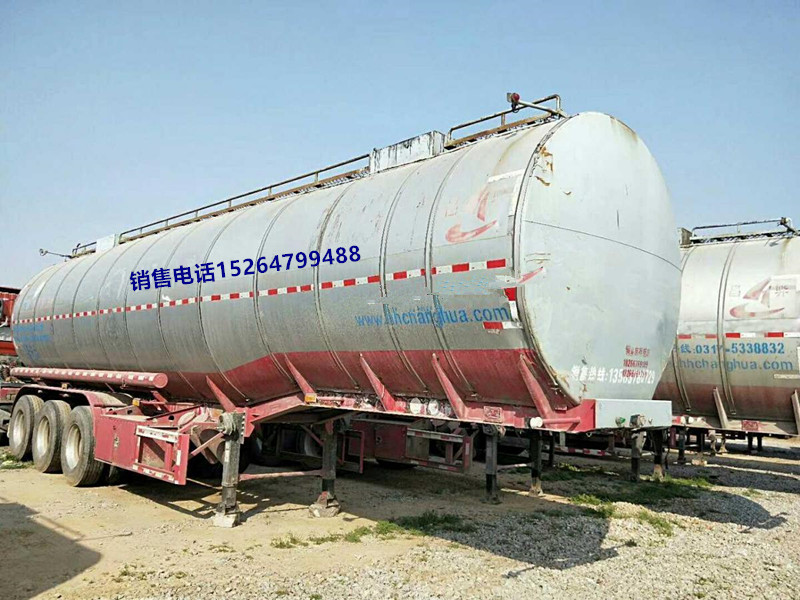 【宝鸡】二手42立方不锈钢油罐半挂车铺货手续 价格5.30万 二手车