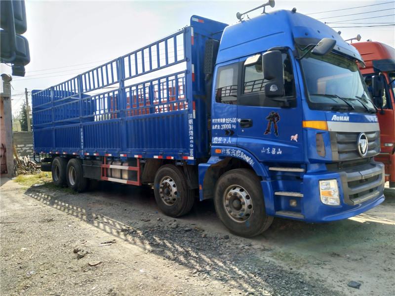 国四二手货车前四后八9.6米高栏平板 手续齐全包过户二手车