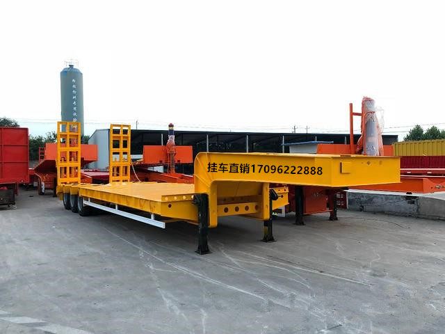 厂家专业挖掘机运输挂车 拖车 勾机板半挂车