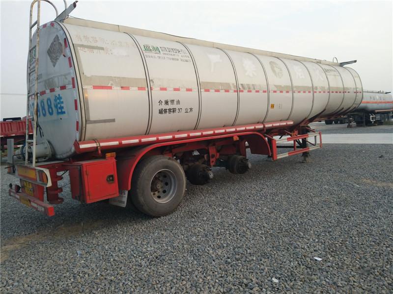 二手危险品运输半挂油罐车不锈钢铝合金罐车
