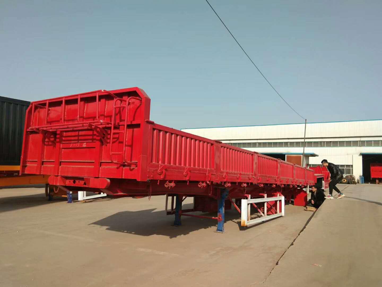 厂家专业定做13米标箱侧翻半挂车二手车