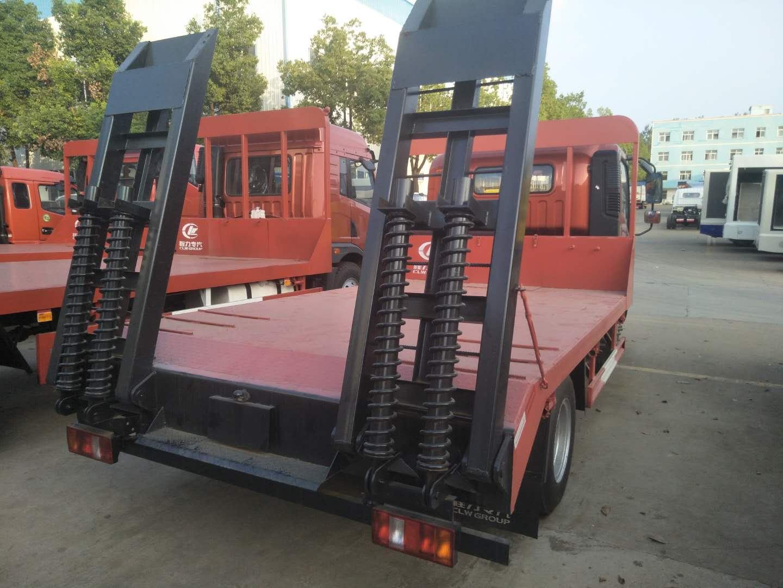 重汽王牌单桥蓝牌平板车10吨挖机运输车首选价格二手车