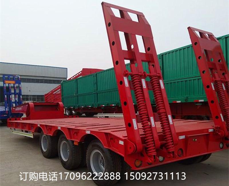 厂家直销13米低平板运输半挂车钩机板二手车