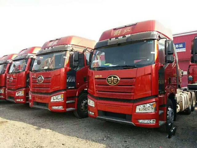 【上海】17年7月解放J6P 375马力天然气车 国五排放二手车 价格8万