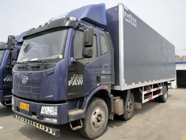 240马力一汽解放J6L8.7米 6x2 国五 厢式冷藏货车