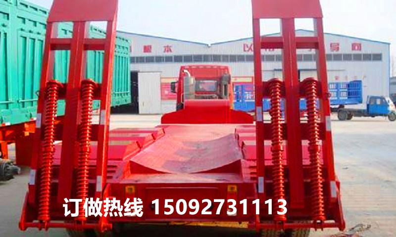 廠家直銷13米75液壓爬梯低平板運輸半掛車二手車