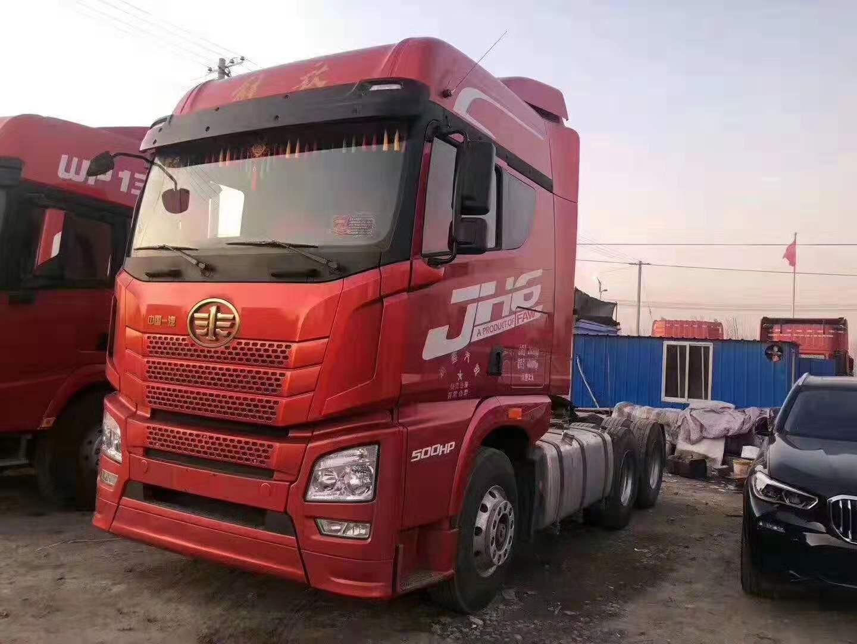 出售二手17年解放j6陜汽德龍雙驅500馬力國五牽引車二手車