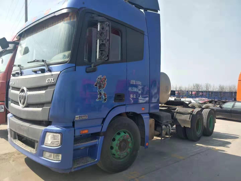 【赣州】二手17年LNG欧曼GTL双驱轻体420马力国五牵引车二手车 价格23万