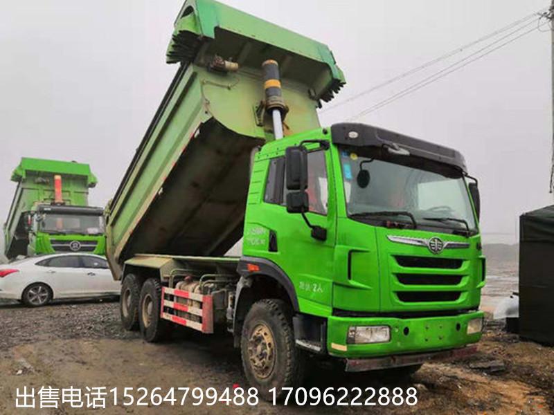 【揭陽】出售二手綠皮渣土運輸自卸車德龍后八輪 價格10.00萬 二手車