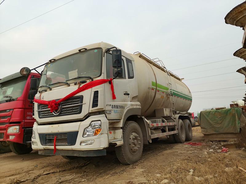 二手国五排放东风天龙干混砂浆水泥罐车