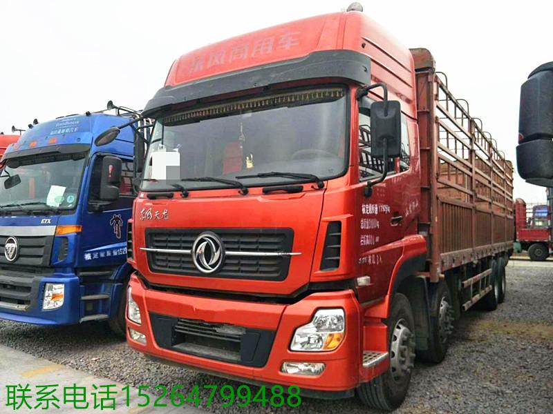 出售陜汽德龍M3000前四后八9米6高欄貨車二手車