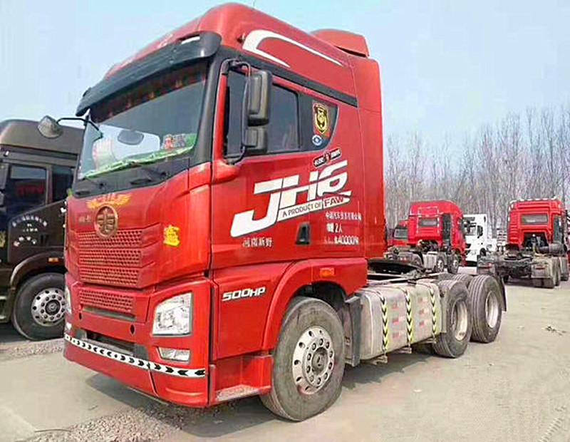 出售二手轻体解放J6P双驱500马力可按揭二手车