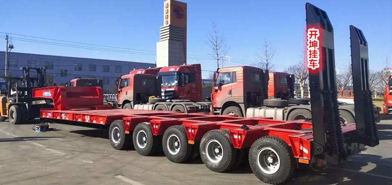 黑龙江包牌定做13米挖掘机运输车 保拉60吨