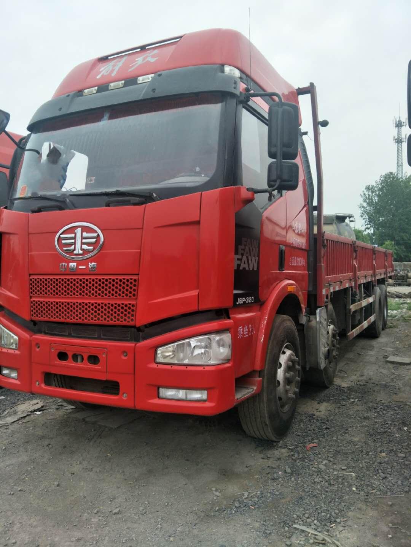 二手9.6米前四后八平板載貨車出售 國五排放