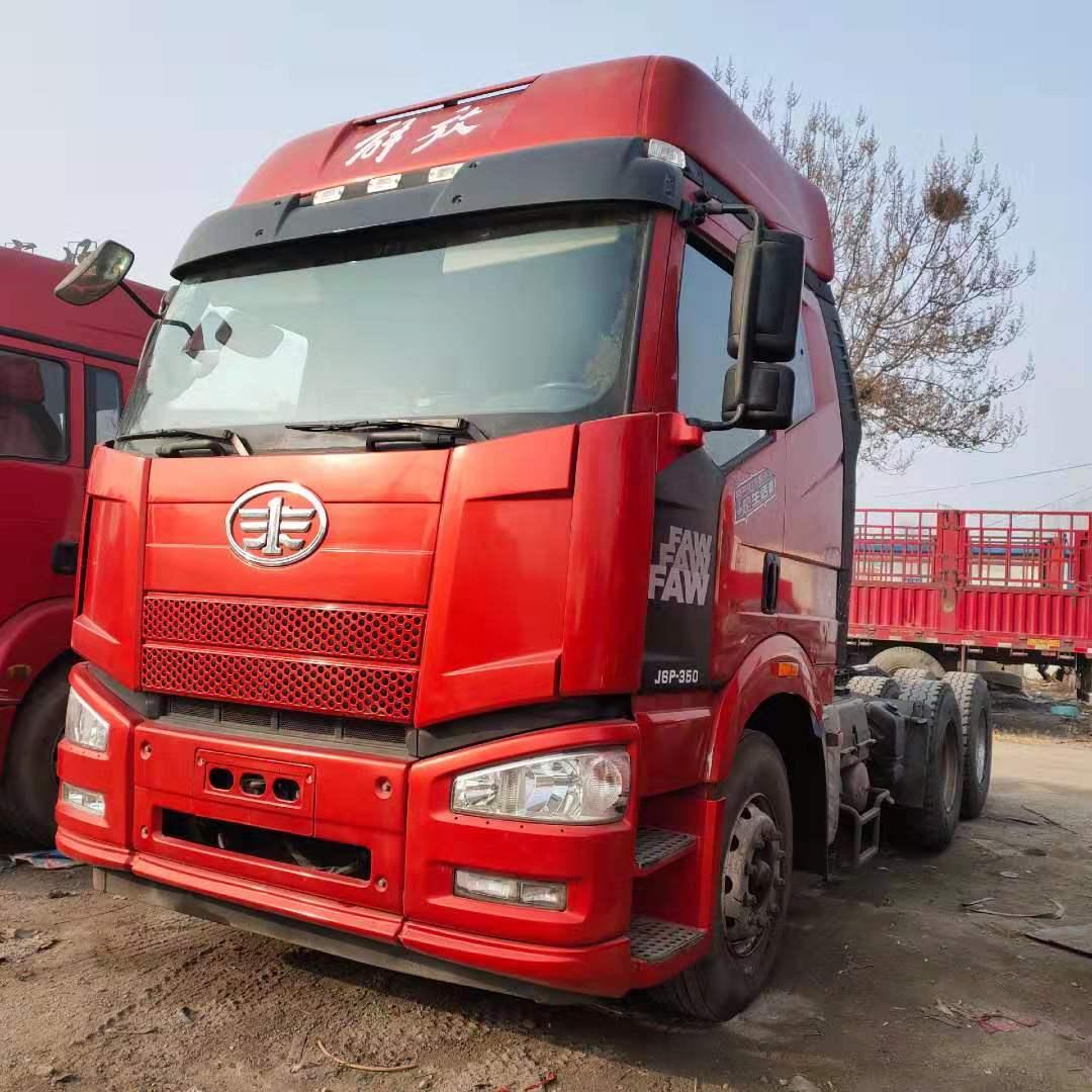【新鄉】低價出售解放J6P 350馬力牽引車 國五排放 價格14.80萬 二手車