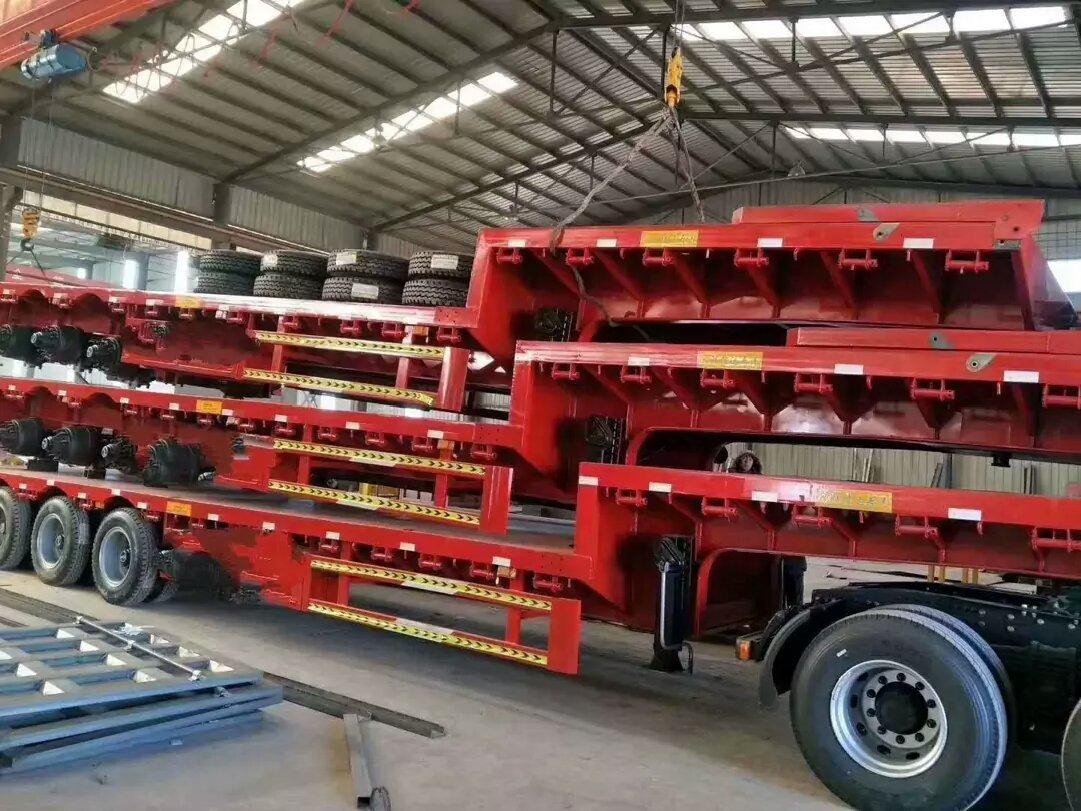 贵州订做13.75米低平板半挂车 可加高花篮