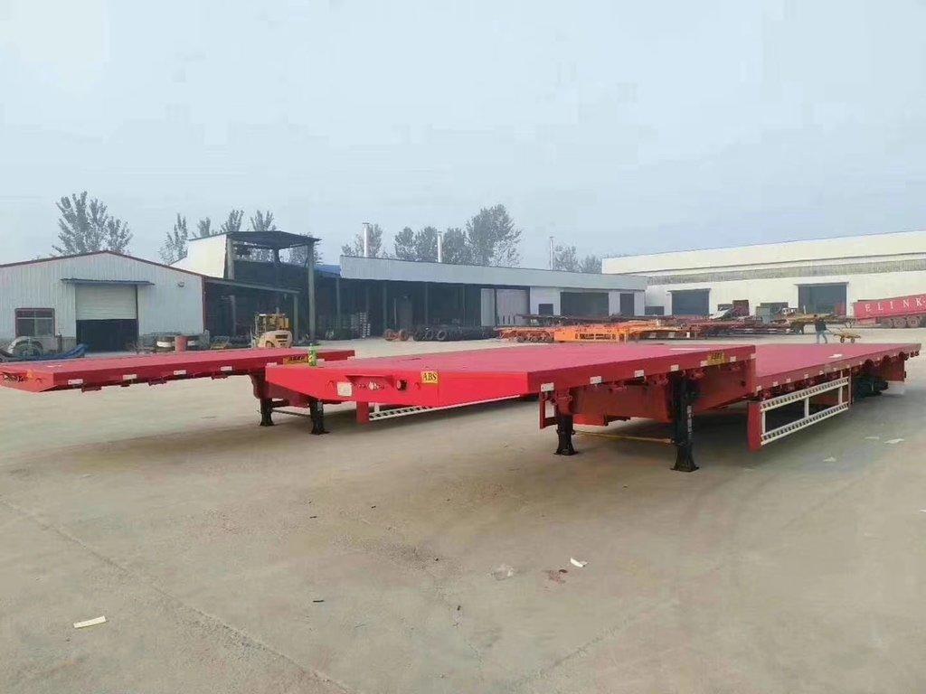 重庆订做13.75米低平板半挂车 可加高花篮