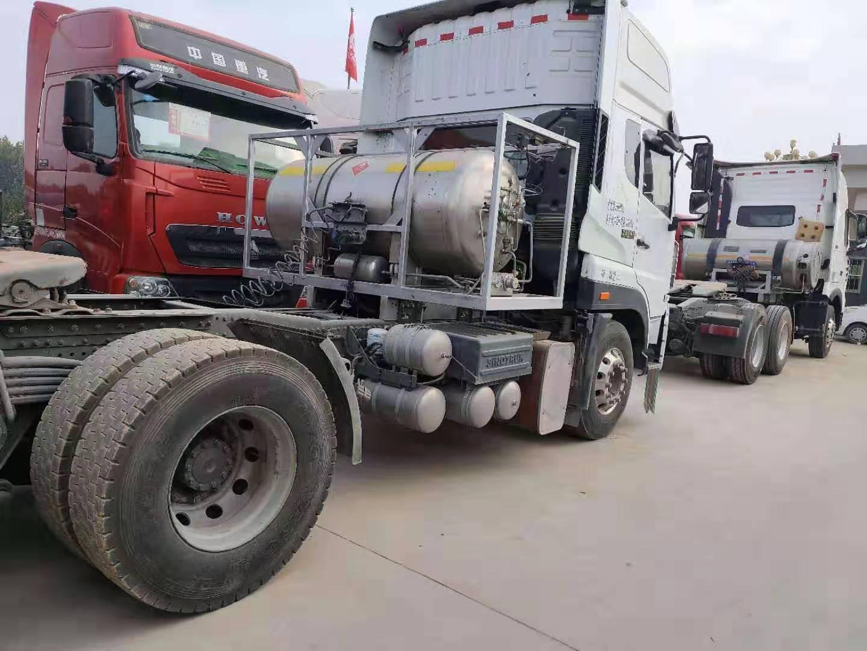 出售二手LNG17年豪沃t7雙驅430馬力國五牽引車包提檔二手車
