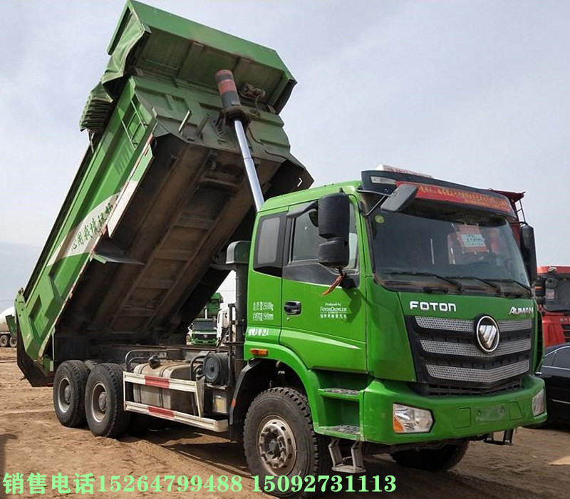 梁山二手绿皮土方工程车新款欧曼可按揭二手车