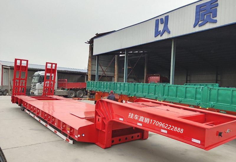 陕西订做13米低平板半挂车 全国发货