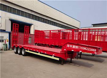 贵州订做13米栏板半挂车 侧翻自卸半挂车