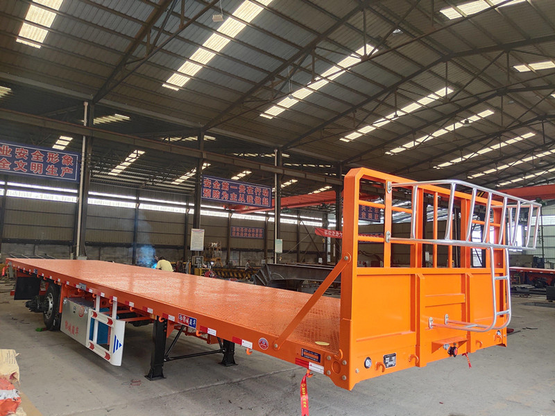 海南订做13米平板半挂车 全国发货 厂家直销
