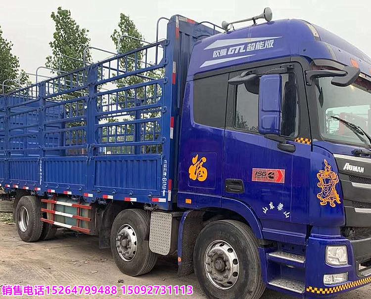 18年歐曼前四后八高欄貨車9米6 包過戶可分期付款二手車