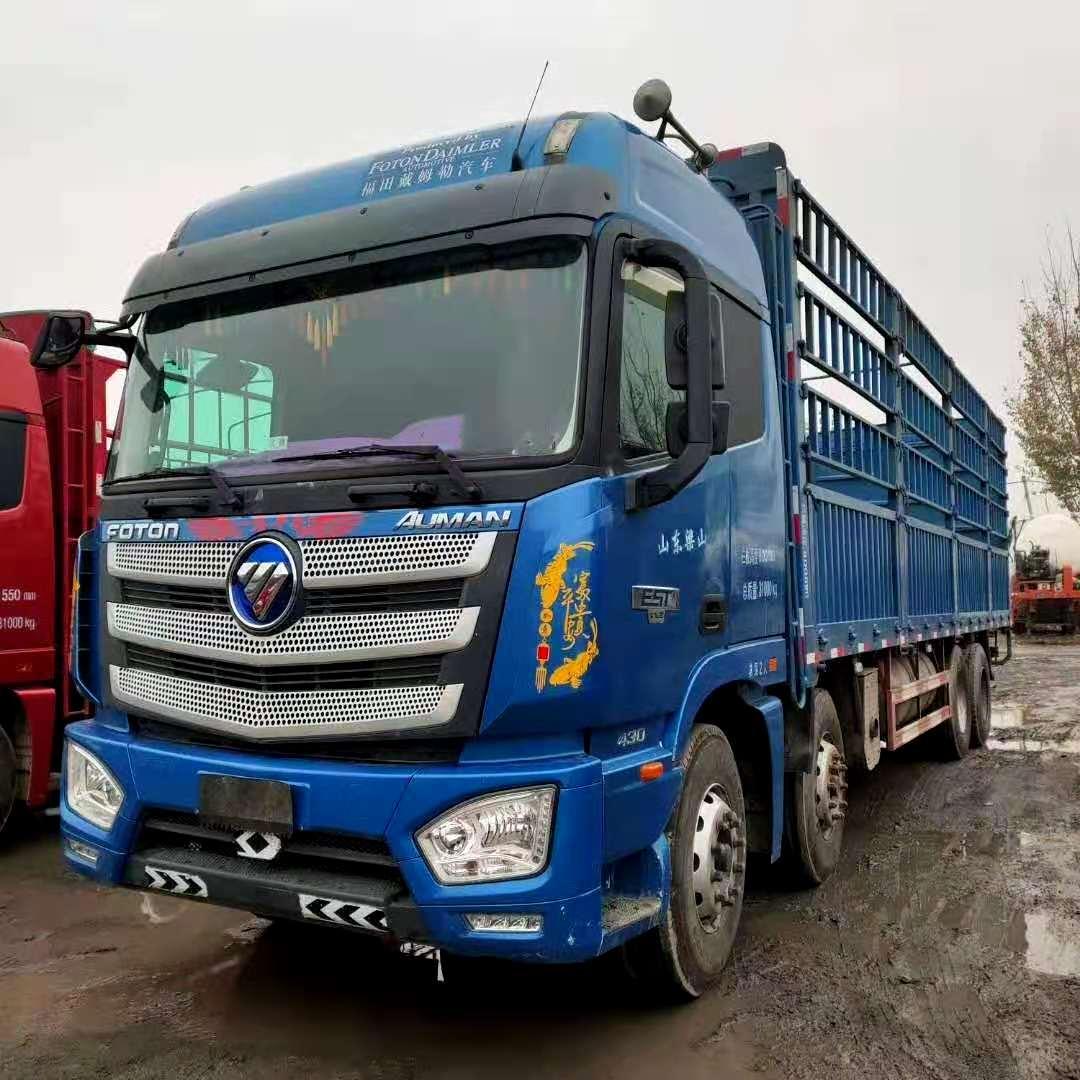 出售二手18年欧曼EST前四后八9.6米高栏货车国五可按揭
