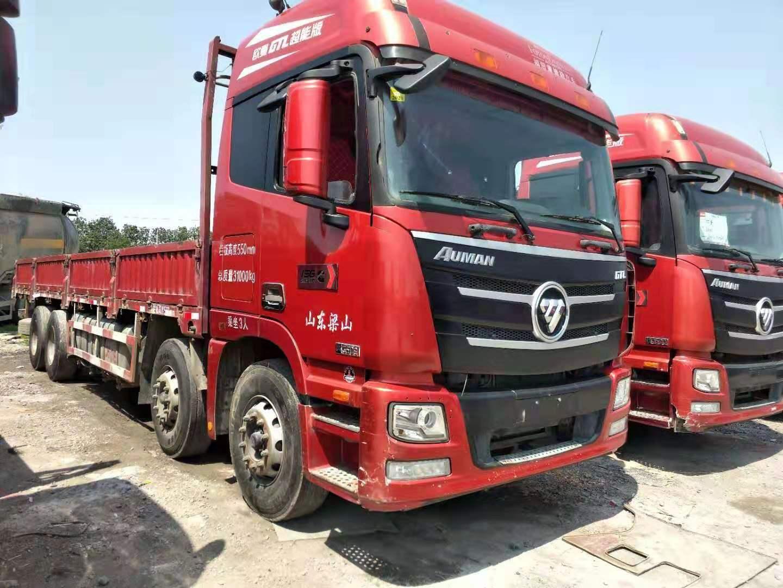 出售二手18年欧曼gtl前四后八9.6米平板货车国五可按揭