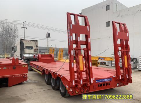廠家訂做13米低平板半掛車 鉤機板運輸車 二手車